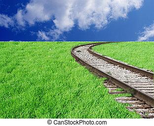 ferroviaire, ciel