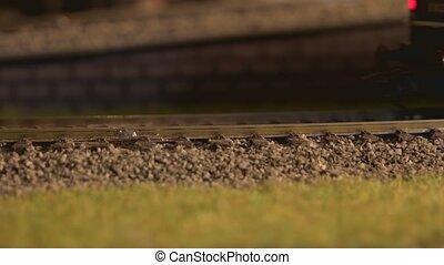 ferroviaire, diesel, motion., modèle, locomotive