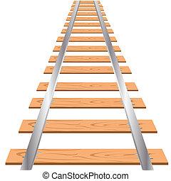 ferroviaire, fond blanc