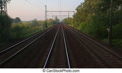 ferroviaire, point, vue