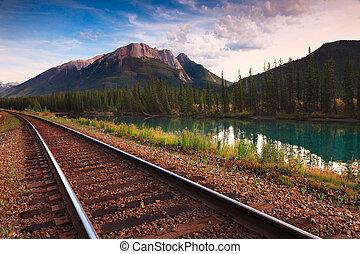 ferroviaire, trans, canadien