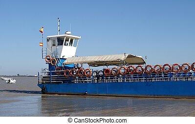 Ferry across the sea