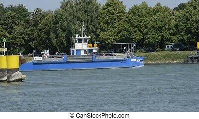 ferry at Rhine, Plittersdorf