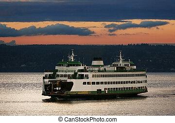 Ferry boat #4 - Landscape photo of the Washington State ...