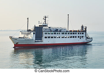 Ferry boat at the sea - Ferry boat at the tropical sea