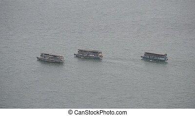 ferry boat at toba lake medan, north sumatera-indonesia