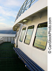 Ferry boat cabin - Ferry boat white cabin with big windows