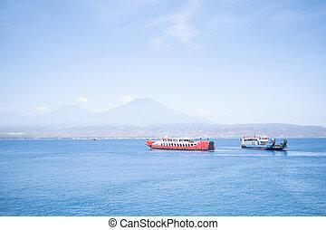 ferry boat in the ocean
