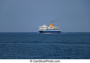 Ferry boat in the sea