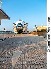 ferry boat in Zadar. Croatia.