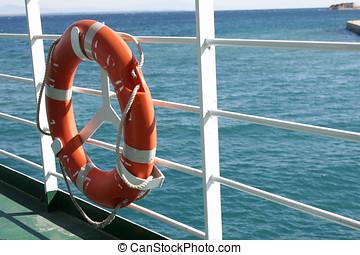 ferry-boat, préservateur vie, bateau