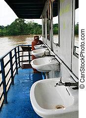 ferry-boat, sombrer, bateau
