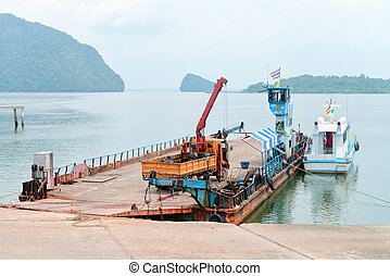 Ferry boat vessel for passengars and cars in Thailand -...