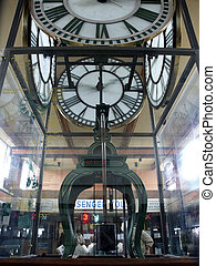 Antique clock at Seattle ferry passenger terminal