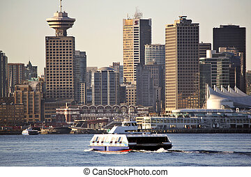 Ferry crossing Barrard Inlet to downtown Vancouver