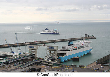 ferry Dover harbour kent England