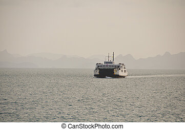 Ferry in the sea