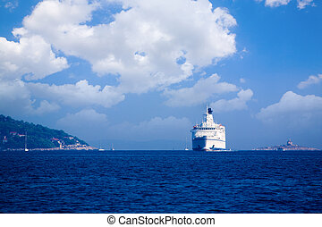 Ferry - Large passenger ferry near the coast of Croatia