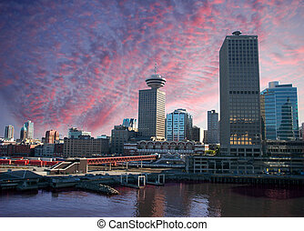 Vancouver - Ferry terminal at Waterfront in Vancouver, BC,...