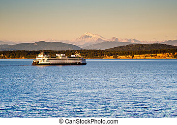 WA state ferry from the San Juan islands to Anacortes