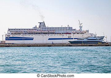 ferryboat, -, logistik, og, transport