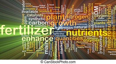 fertilisant, incandescent, concept, fond