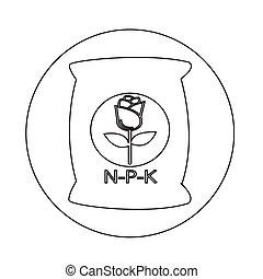fertilizante, ícone