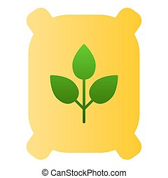 Fertilizer flat icon. Bag color icons in trendy flat style. Agriculture gradient style design, designed for web and app. Eps 10.