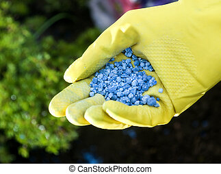 Fertilizer in hands
