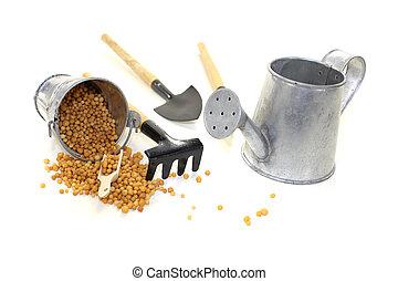 Fertilizer with bucket and bushel