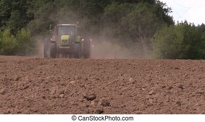 fertilizer work field - Agriculture machine spread...