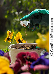 Fertilizing flowers
