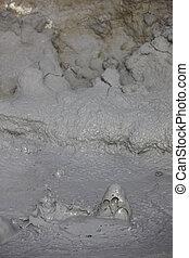 ferver, bolhas, iceland., lama