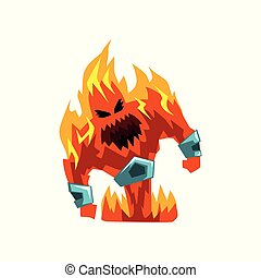 Fervillon demonic infernal creature character vector Illustration on a white background