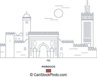 Fes Linear City Skyline, Morocco