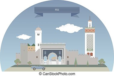 Fes. Morocco. Second largest city of Morocco