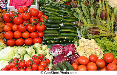 fesh vegetables for sale at italian market