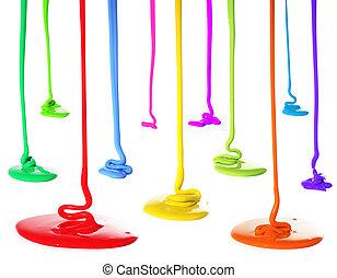 festék, öntés