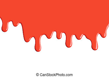 festék, csöpög, piros