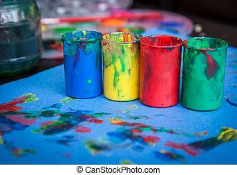 festék, csövek, üres