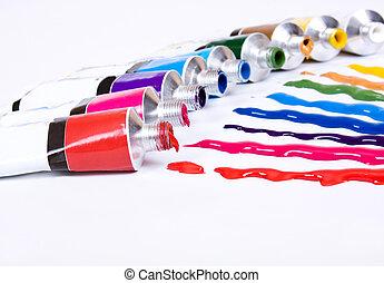 festék cső
