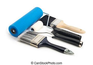 festék, eszközök