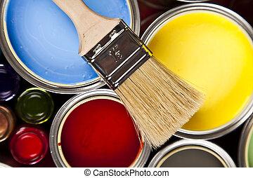 festék, színes