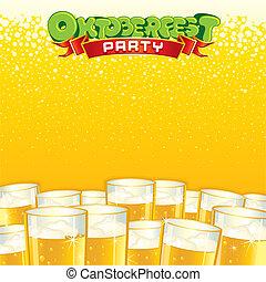 fest, בירה, רקע., מואר, וקטור, דפוסית