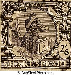 fest, briefmarke, shakespeare