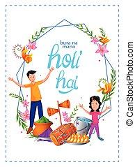 fest, holi, indien, farben, bunte, hintergrund, traditionelle