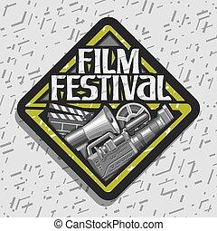 fest, logo, vektor, film