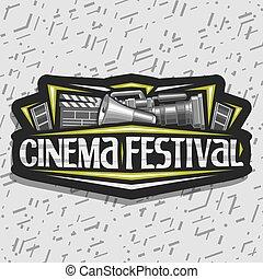 fest, logo, vektor, kino