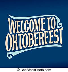 fest, oktoberfest, bier, vektor, plakat