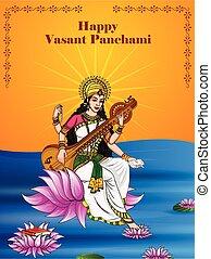 fest, panchami, indische , puja, saraswati, vasant, hintergrund